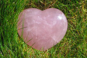 Rose Quartz in Grass-5870